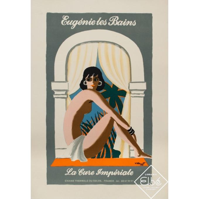 Vintage advertising poster - Bernard Villemot - 1988 - Eugénie les Bains - la cure impériale - 27.8 by 19.3 inches