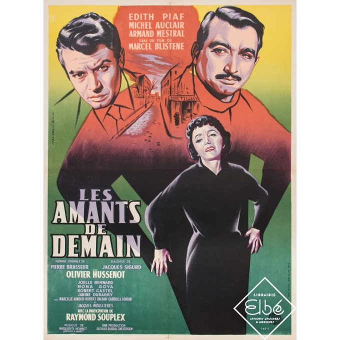 Original vintage movie poster - Jean Mascii - Circa 1946 - Les Amants de Demain - 31,5 by 23,6 inches