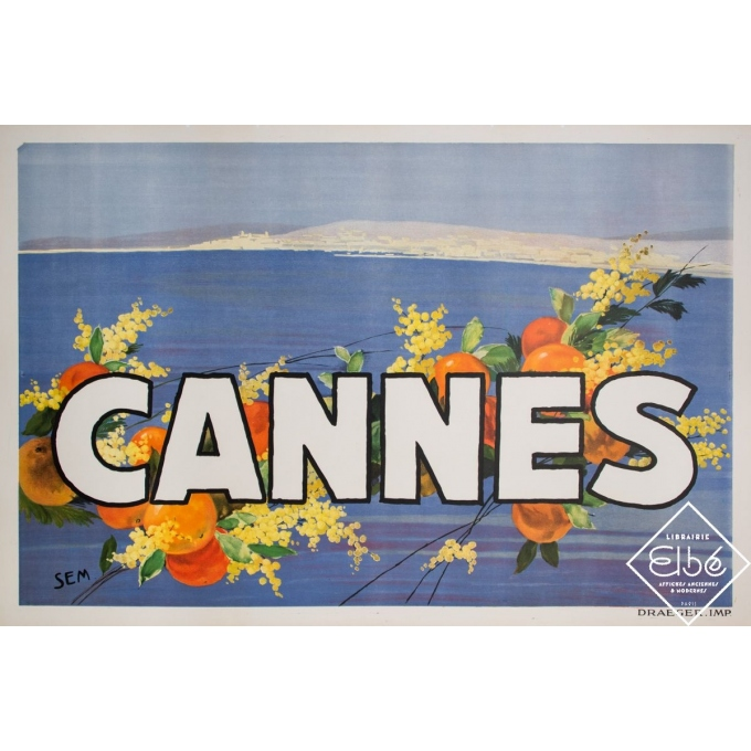Vintage poster - Sem - Circa 1920 - Cannes - 47,2 by 31,5 inches