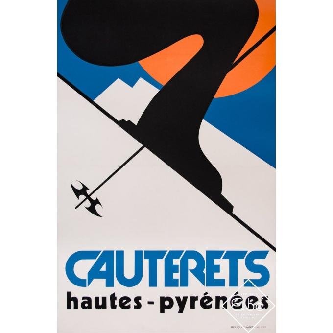 Silkscreen poster - Circa 1965 - Cauterets Hautes-Pyrénées - 47,2 by 32,3 inches