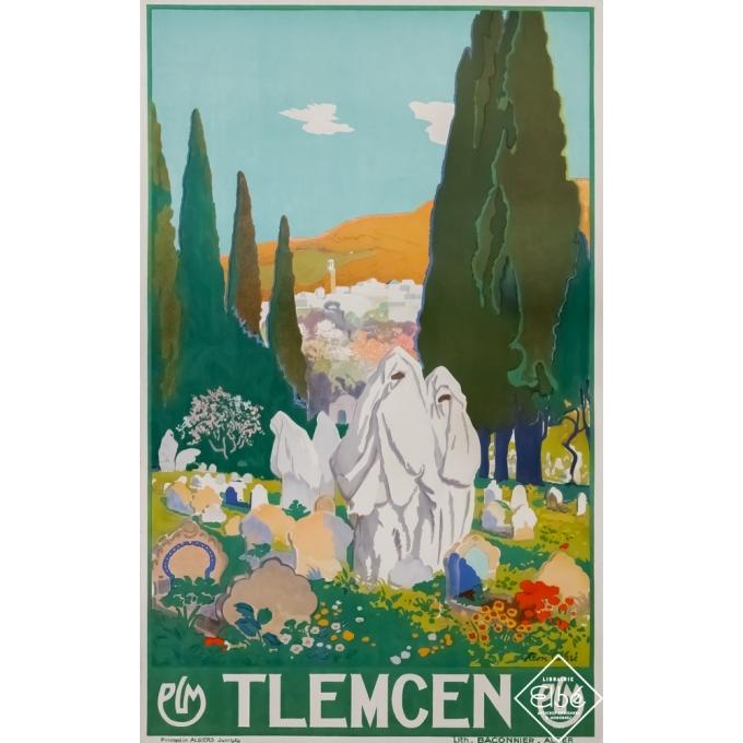 Vintage travel poster - Léon Carré - 1905 - Tlemcen PLM - Verte - 39,4 by 24,8 inches