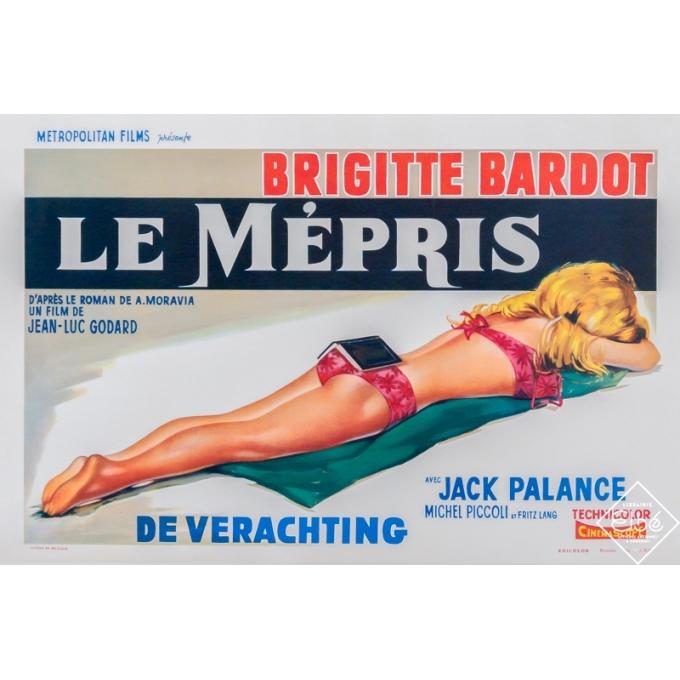 Original vintage movie poster - Anonyme - Circa 1960 - Le Mépris - Belge - 21,8 by 14,2 inches