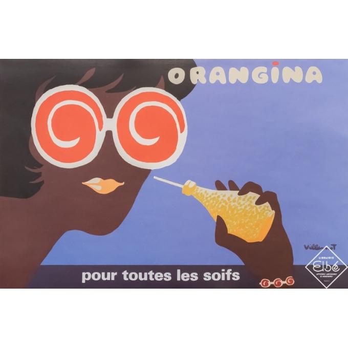 Vintage advertising poster - Bernard Villemot - Circa 1980 - Orangina - 23,6 by 15,8 inches
