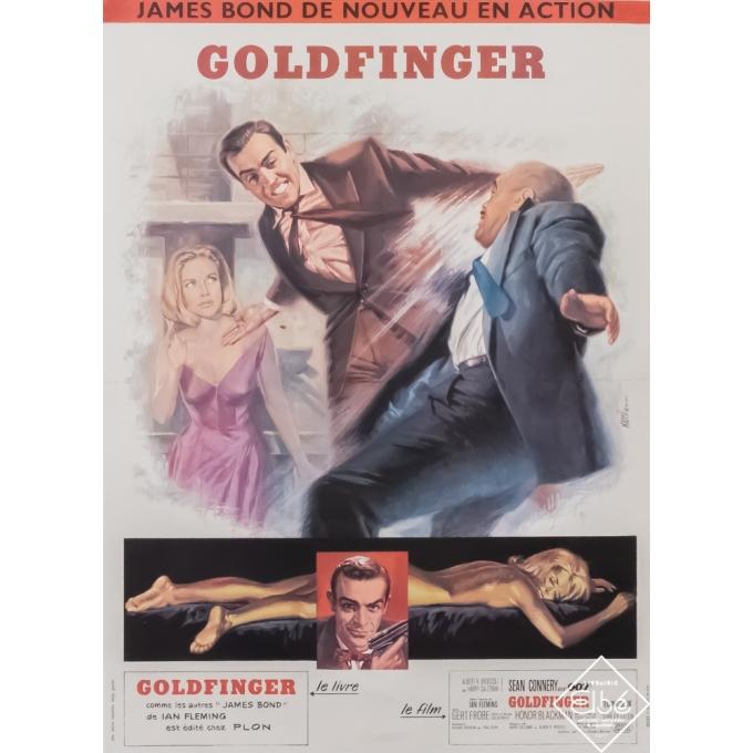 Original vintage movie poster - Mascii - 1964 - Goldfinger - 007 - 22,8 by 16,5 inches
