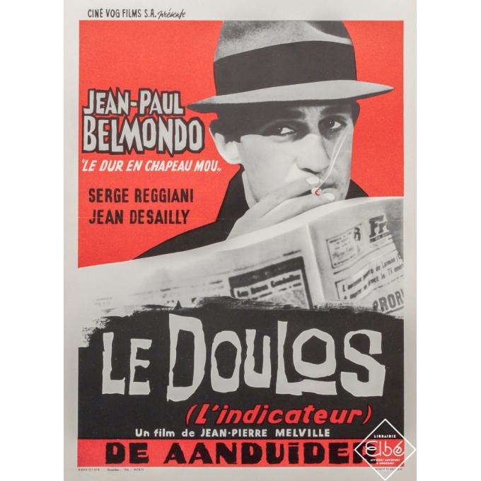 Original vintage movie poster - 1962 - Le Doulos - Belmondo Modèle Belge - 21,6 by 14,8 inches