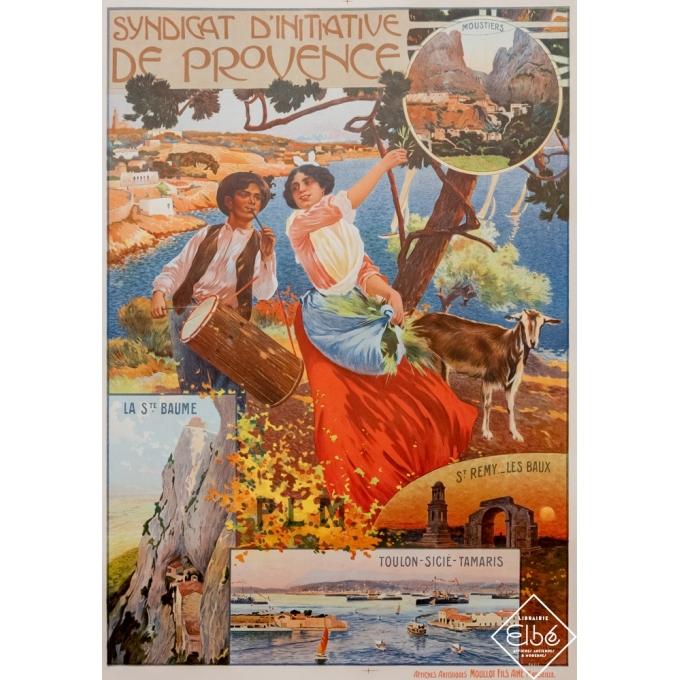 Affiche ancienne de voyage - David Dellepiane - 1903 - La Provence - St Remy - Les Baux - Toulon - 107 par 76 cm