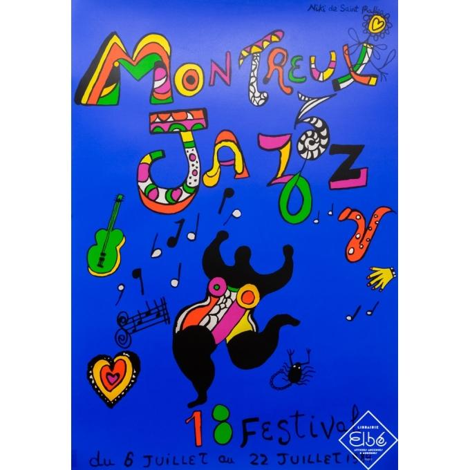 Silkscreen poster - Niki de Saint Phalle - 1984 - Festival jazz - Montreux festival - 1984 - 18eme édition - 39,4 by 27,4 inches