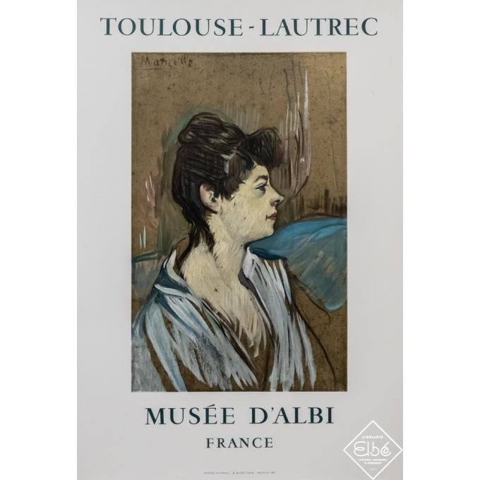 Vintage exhibition poster - Toulouse Lautrec - 1968 - Toulouse Lautrec - Musée d'Albi - 29,1 by 20,5 inches