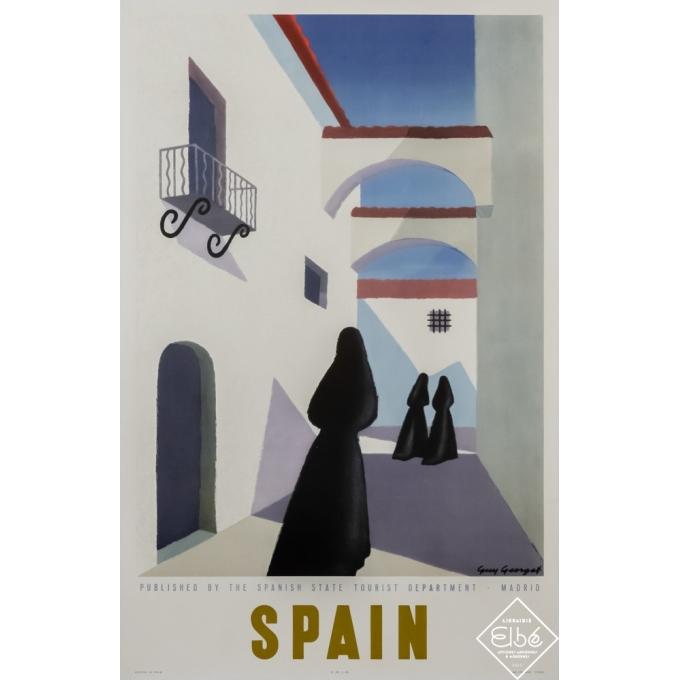 Affiche ancienne de voyage - Guy Georget - 1947 - Spain - Espagne - 99 par 64 cm