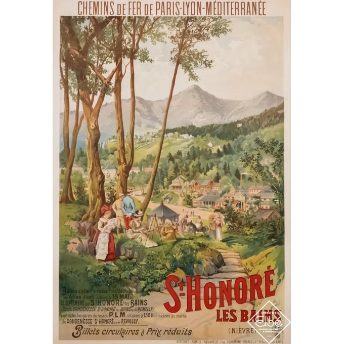 Affiche ancienne de voyage - Tanconville - Circa 1900 - Saint Honoré les bains - Nièvre - PLM - 107,5 par 74,5 cm