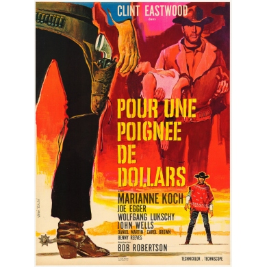 Vitnage movie poster A Fistful Of Dollars