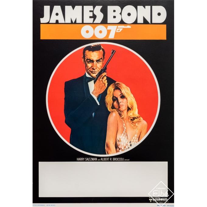 Affiche ancienne de cinéma - United Artists - Circa 1960 - James Bond 007 - 54,5 par 35 cm