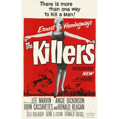 Vintage movie poster The Killers 1964