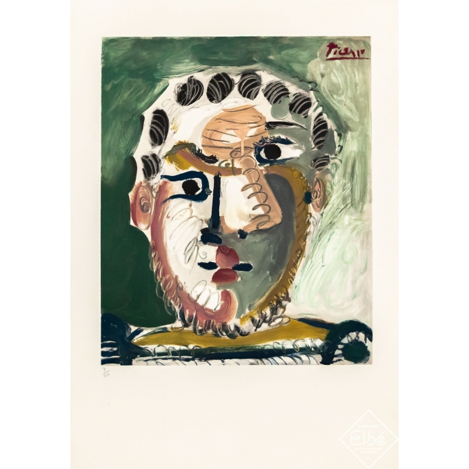 Vintage exhibition poster - Picasso - 1967 - Picasso Lithographie N°7 /200 - 29,3 by 20,9 inches