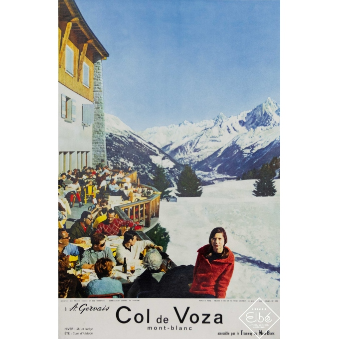 Vintage travel poster - Ph. Norry - Circa 1970 - Col de Voza - Mont Blanc - Saint Gervais photographie - 24 by 15,8 inches