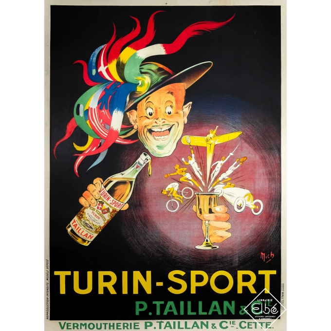 Vintage advertising poster - Mich - Circa 1920 - Turin - Sport - 65,4 by 46,5 inches