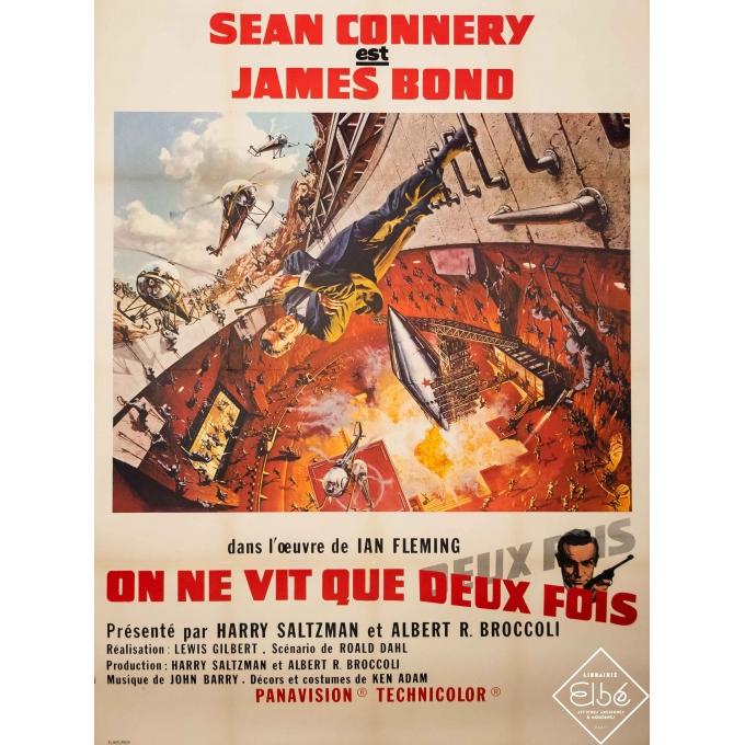 Original vintage movie poster - Yves Thos - 1967 - Sean Connery est James Bond - On ne vit que deux fois - 47,2 by 23,6 inches