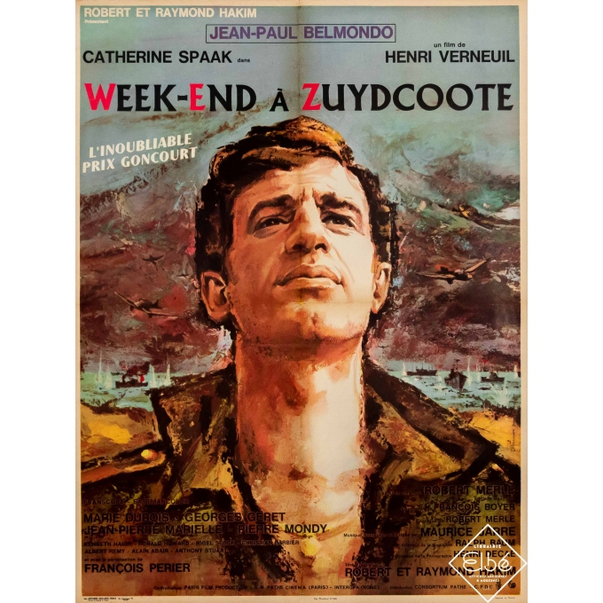 Original vintage movie poster - Ferracci - 1964 - Week-end à Zuydcoote - Jean-Paul Belmondo - 31,5 by 23,6 inches