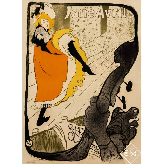 Vintage advertising poster - Toulouse Lautrec - Circa 1950 - Jane Avril - Edition Circa 1950 - 32,7 by 25,8 inches