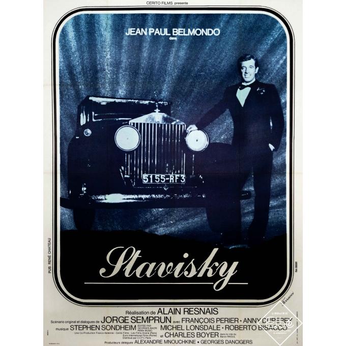 Original vintage movie poster - Ferracci - 1974 - Stavisky - Jean-Paul Belmondo - 63 by 47,2 inches