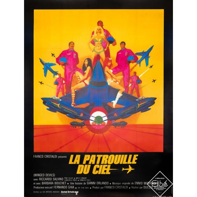 Original vintage movie poster - 1972 - La Patrouille du Ciel - 63 by 47,2 inches