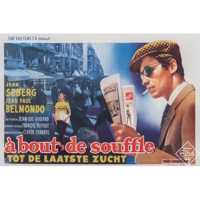 Original vintage movie poster - Circa 1960 - A bout de souffle - Modèle Belge - 20,7 by 14,8 inches