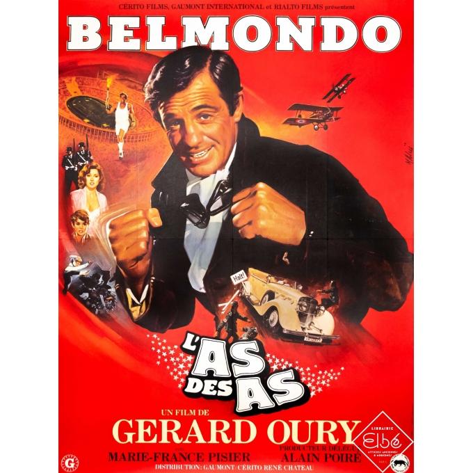 Original vintage movie poster - Mascii - 1980 - L'As des As - Belmondo - 63 by 47,2 inches