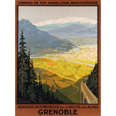 Original French poster Grenoble - Roger Broders - 1922