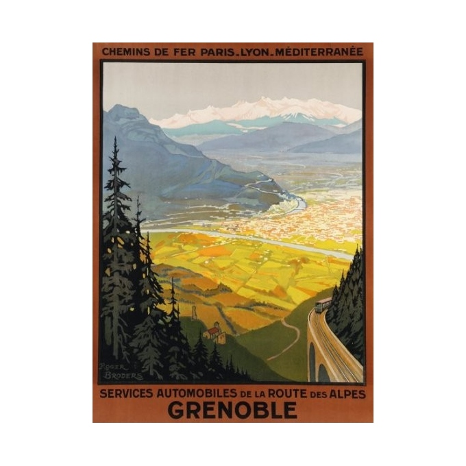 Affiche originale Grenoble - Roger Broders - 1922