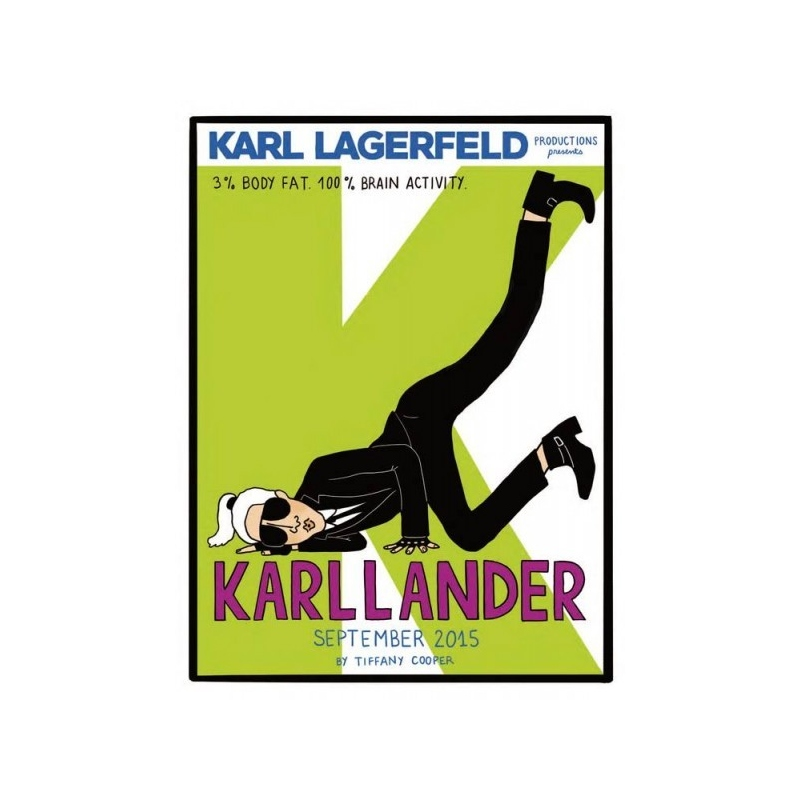 Karllander - 2015 Silk print for Karl Lagerfeld