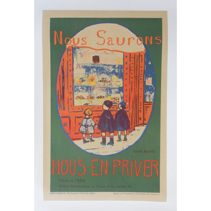 We Will Learn How To Deprive Ourselves Of It - Little Second World War poster - Paris City Contest