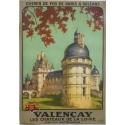Valençay - Affiche originale de régionalisme signée Alo