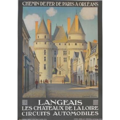 Affiche ancienne originale Langeais de Constant Duval 1927