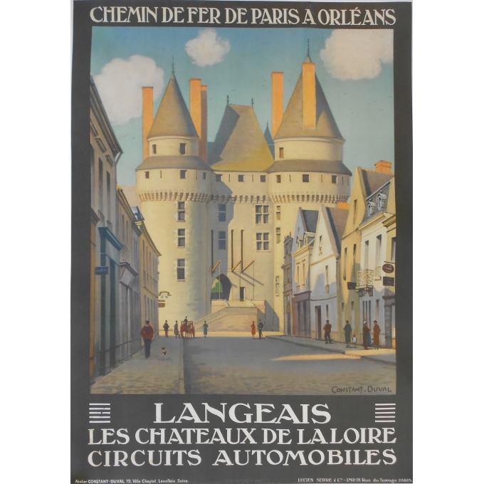 Langeais - Original French poster of regionalism signed by Constant-Duval