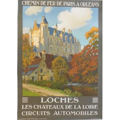 Affiche ancienne originale de France : Loches - Constant Duval 1928