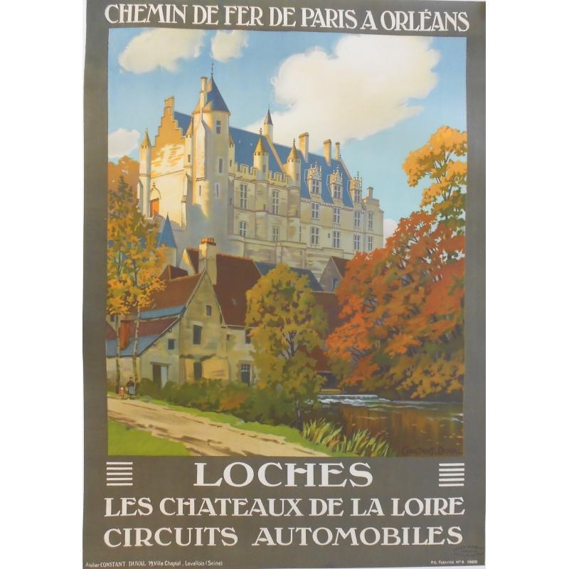 Loches - Affiche originale de régionalisme signée Constant-Duval