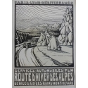 Alps Winter Road - PLM - Original French poster of regionalism