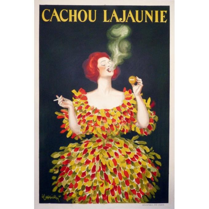 Cachou Lajaunie original vintage poster Cappiello
