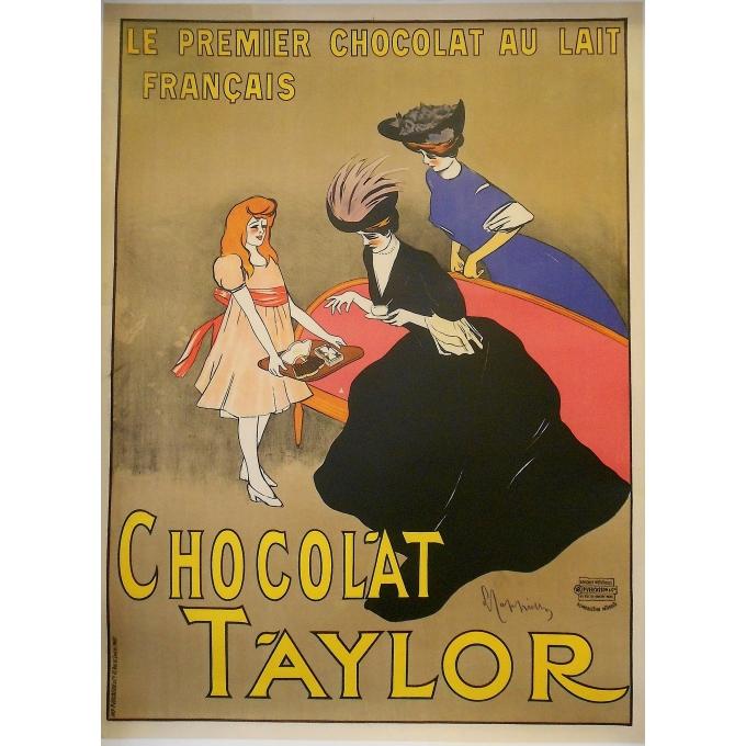 Affiche originale pour le Chocolat Taylor, signée Cappiello, circa 1900