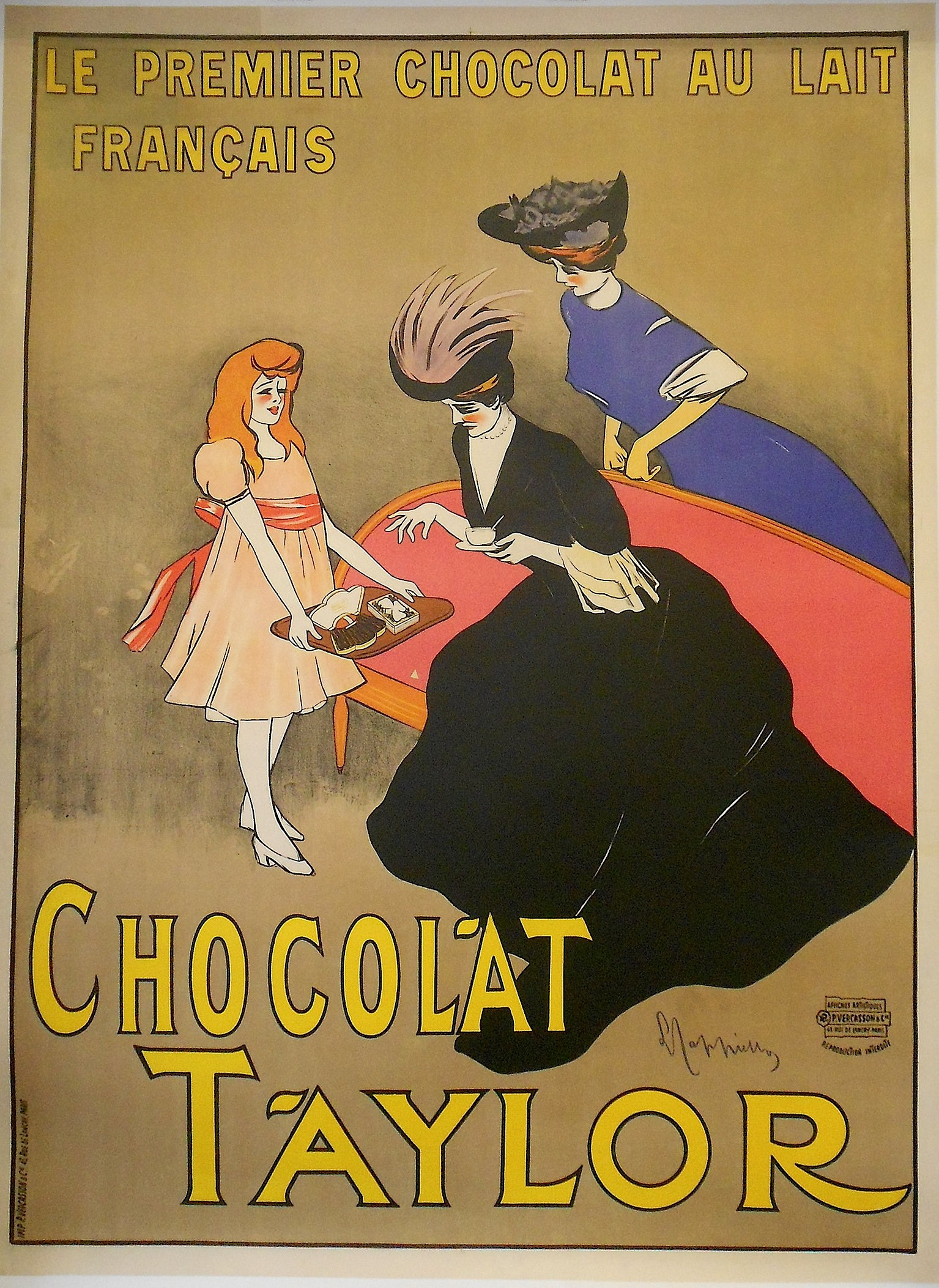 Turns out? french vintage chocolate advertisement congratulate