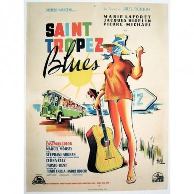 Affiche originale de cinéma - Saint-Tropez Blues avec Maris Laforêt (1961)