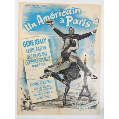 An American in Paris - Original French poster of the musical directed by Vincente Minnelli - 1951