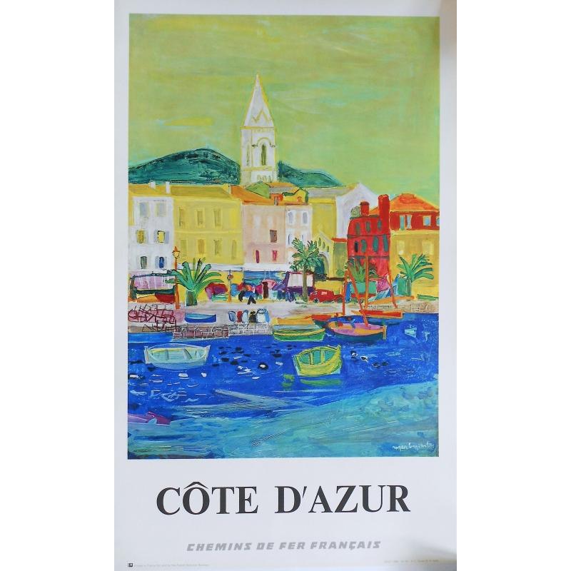 Côte d'Azur SNCF original poster - Rogers Bezombes - 1966