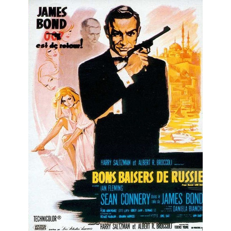 original french vintage poster - James Bond 007 BONS BAISERS DE RUSSIE - 120 x 160 cm