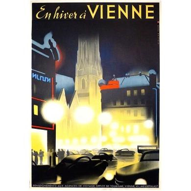 Affiche ancienne En hiver à Vienne 1930