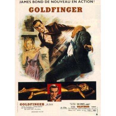 Affiche James Bond 007 Goldfinger - linenbacked 120 x 160 cm - Rare