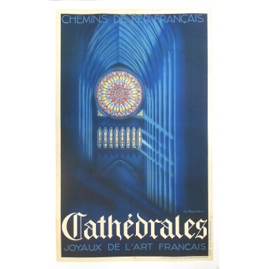 Original French Railways poster - Cathedrals - The French Art's Jewels