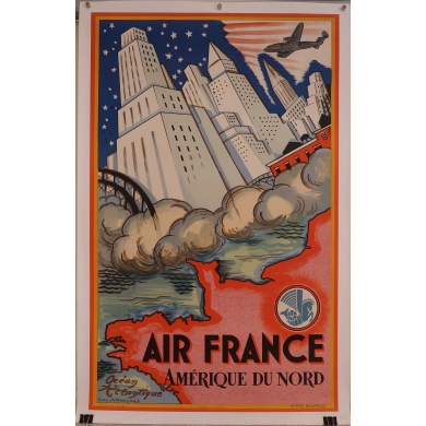 Affiche Air France (Amérique du Nord)