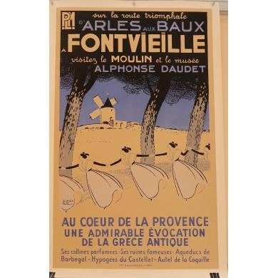 Poster Arles Baux a Fontvieille
