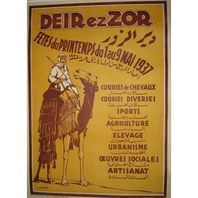 Vintage poster Deirezzor 1937